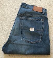 Mens Polo Ralph Lauren over/reverso indigo blue straight denim jeans W 36 L 32