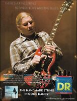 Allman Brothers Derek Trucks Band DR guitar strings ad 8 x 11 advertisement