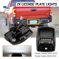 Pair Bumper LED License Number Plate Lights Lamp For  Toyota Tacoma Tundra