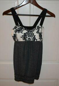 LULULEMON Size 6 Women's Nylon Blend Drawstring Waist Bra Tank Top Gray