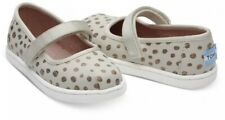 NIB TOMS Mary Jane Rose Gold Dots Canvas Shoes Tiny Size 5