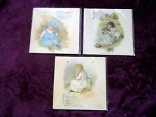 Set of 3 Maude Humphrey Bogart Nursery Rhyme Print Wall Art Plaques