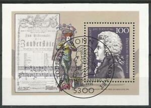 Germany 1991 CTO Music Composer Wolfgang Amadeus Mozart Mi-Block 26 SG-MS2433