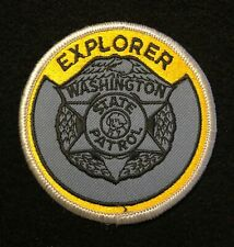 Washington WA State Police Highway Patrol Patch EXPLORER OLD STYLE **RARE**