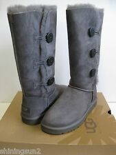 UGG Bailey Button Triplet Grau Women Boots us11/uk9.5/eu42