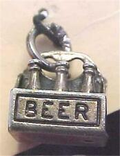 Charm in the Shape of a Six Pack of Beer Sterling -Vintage   -12049C