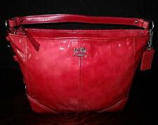 NEW COACH CHELSEA RED PATENT LEATHER KATARINA PAPRIKA HOBO TOTE BAG PURSE WOW!