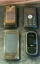 Lot of Four Cell Phones