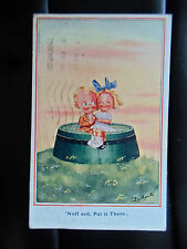 "1920 Vintage Postcard Ludgate No 1121 ""Nuff Sed, Put it There"" Engagement Humour"