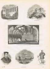 1854 CROSBY Hall Lord Stanley Thomas Howard Earl Surrey incisioni