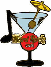 Hard Rock Cafe ONLINE 2000 MARTINI GLASS Series PIN Musical Note Olive HRC #2761