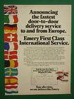1983 PUB EMERY FIRST CLASS WORLDWIDE SERVICE AIR SHIPMENT ORIGINAL AD