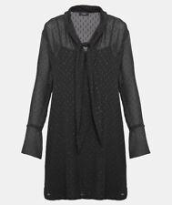 New Black Theory Metallic Silk Scarf Dress Size 0 MSRP $395