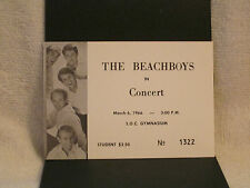 THE BEACH BOYS ORG  FULL CONCERT TICKET MARCH 6, 1966! UNUSED NM!