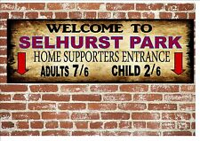 selhurst Park Estilo Letrero Metal fútbol vintage Letrero