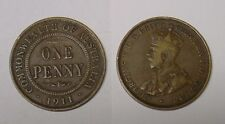 1911 Australian Penny, first year of issue, circulated.