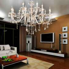 15 Arms Cristal Candle Décoration Lustre pendentif plafond Lampe Chandelier