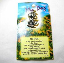 MY DOG ANGEL PIN WITH PRAYER LAPEL PIN