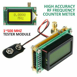 DE High Accuracy RF 1~500MHz Frequency Counter Meter Tester Module For Ham Radio