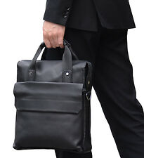 Men's genuine leather tote bag A4 messenger bag cow leather vertical briefcase