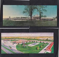 Vintage Postcard Lot VA-Mt Vernnon Motor Lodge & Sunset Manor Motel & Restaurant