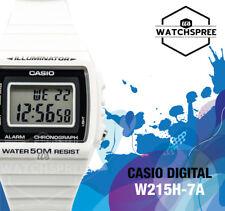 Casio estándar Digital Blanco y Negro Reloj W215H-7A