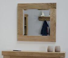 Eton solid oak furniture small square glass wall mirror