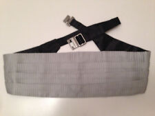 NWT ERMENEGILDO ZEGNA Gray100%  Silk Adjustable Cummerbund