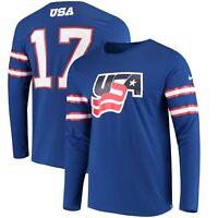 US Hockey Nike Buffalo Jersey Long Sleeve DRI-FIT Mens T-Shirt Team USA XL