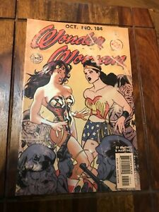 WONDER WOMAN 184. VERY RARE NM CLASSIC ADAM HUGHES WEATHERED WWII COVER.