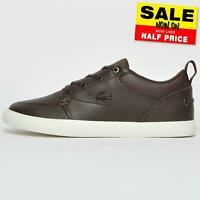 Lacoste Bayliss 119 Mens Classic Designer Leather Retro Fashion Trainers Brown