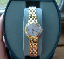 Ladies Goldtone Citizen Eco-Drive Genuine Diamonds Mother of Pearl Dial MSR $450