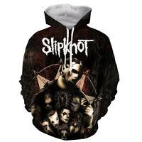 MensWomen 3D Print popular slipknot punk Hoodie Casual Sweatshirt Pullovers Tops