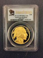 2009-W $50 First Strike Gold Buffalo PCGS PR70DCAM 1 oz NEW MINT
