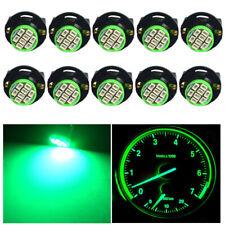 10X Green T10 168 8SMD LED Instrument Panel Light bulbs + Sockets PC194