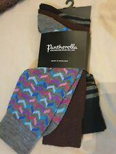 Pantherella 3 Pack Merino Wool Socks BNWT Size Medium M Black Grey Brown Multi