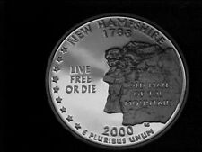 2000 S NEW HAMPSHIRE STATE QUARTER FROM PROOF SET