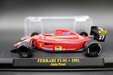FERRARI FORMULA 1 UNO 1/43 F1 91 MODELLINO AUTO CAR MODEL DIECAST IXO PROST 1991