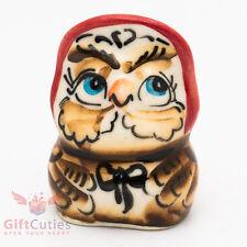 "Owl ""Сова"" from Winnie the Pooh Gzhel porcelain figurine souvenir handmade"