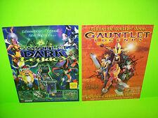 Atari GAUNTLET Dark Legacy + Legends Original NOS Video Arcade Game Flyer Lot