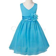 Vestido Gasa Elegante de Boda de Princesa sin Mangas para Flores Niña Vestidos