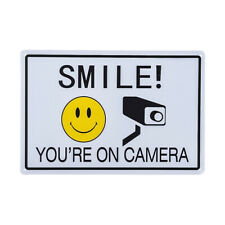 DL-Smile You're On Camera Sign, Indoor/Outdoor sign Video Surveillance Warning