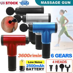 Massage Gun Deep Percussion Massager Muscle Vibration Relaxing Therapy Modern UK
