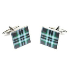 Clan Thomson Tartan Cufflinks - Gift Boxed -  Scottish Highland Cuff Links