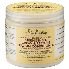 Shea Moisture Oil Strengthen, Grow, and Restore Leave-In Conditioner 16 oz