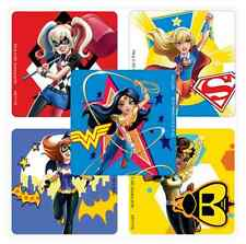 "30 DC Super Hero Girls Stickers, Assorted, 2.5""x2.5"" each, Party Favors"