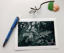 Blank Sympathy Floral Note Card w/Envelope 💕Beautiful Handmade B&W Photo Card