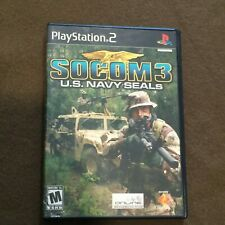 Sony PlayStation PS2 Video Game Socom 3 US Navy Seals Rated M