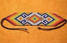 Glass Seed Bead Loom Work Beadwork Ceremonial Bracelet Colombia, South America