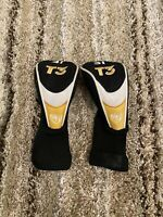2 Walter Hagen T3  4i And 3i Golf Club Head covers in Gold, Black & White